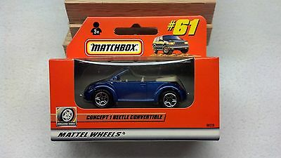 Matchbox 1999 #61 VW Concept 1 Convertible in ROW Rest of the World box - MINT!!