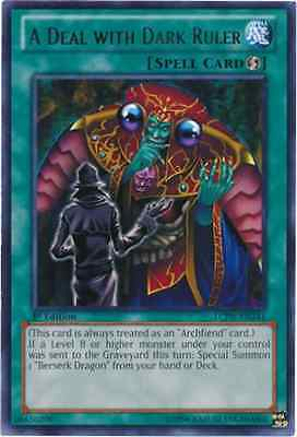 3 x A Deal with Dark Ruler (LCJW-EN241) - Rare - 1st Edition
