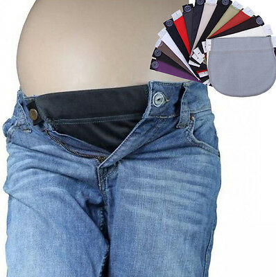 Maternity Pregnancy waistband belt ADJUSTABLE elastic waist extender pants