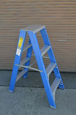 Double sided Fibreglass Step Ladder 1.2M 4 feet foot ft 150KG New