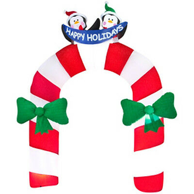 Christmas Santa Archway Arch Candy Cane Penguins Airblown Inflatable
