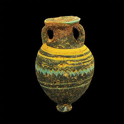 Aphrodite- Ancient Greek Core-Formed Glass Amphoriskos