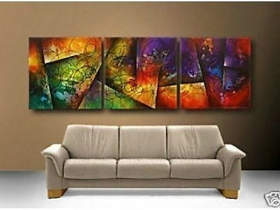 3 pieces Large canvas Modern Abstract Art Oil Painting Wall Art Decor No frame