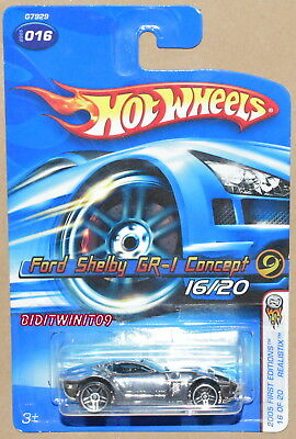 Hot Wheels 2005 First Editions Ford Shelby Gr-1 Concept Chrome