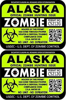 Sorry Officer Zombies Zombie Funny outbreak Apocalypse doomsday sticker decal