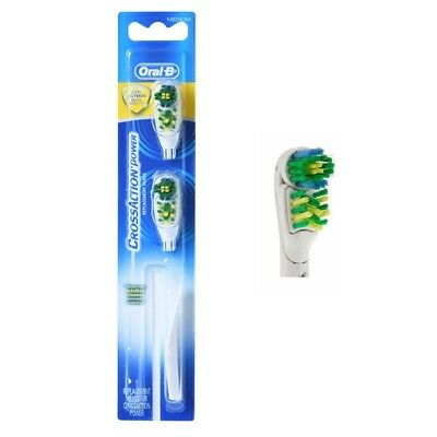 Original Braun Oral-B Cross Action Power Whitening toothbrush 2 Brush Heads