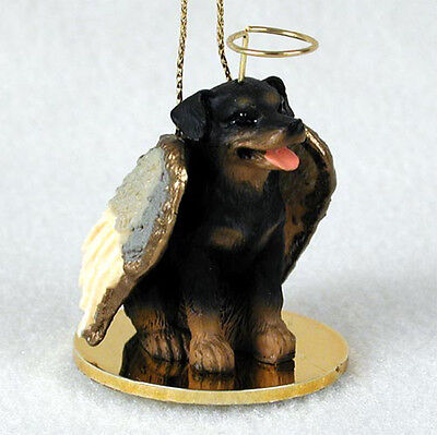 Rottweiler Dog Figurine Angel Statue Ornament