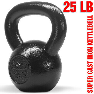 Yes4All 25 lb Kettlebell Weights for Body Workout - Cast Iron Kettlebells