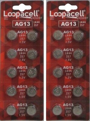 20 LR44 AG13 357 357A A76 303 L1154 1.5 Volt Alkaline Batteries Ships From USA