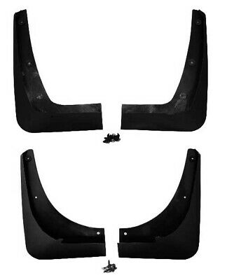 2005-2013 C6 Corvette Front & Rear Unpainted Splash Guards Mud Flaps - 4pc Set