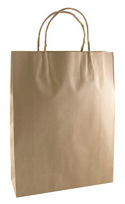 Brown Kraft Paper Bag With Twisted Paper Handles - Small X 50