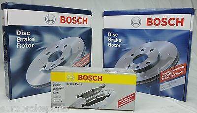 Genuine Bosch brake pads & disc brake Rotors Ford Falcon BA BF FG Front Package