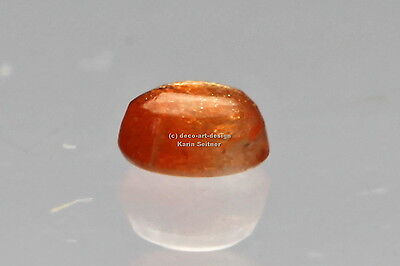 Sonnenstein 1 Stk Cabochon oval 4x3 mm ca. 0,2 ct orange irisierend flimmernd