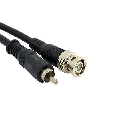 BNC To Phono Cable 1.5M CCTV Cable Free Irish Delivery