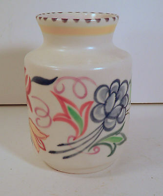 1970s POOLE POTTERY ENGLAND HAND PAINTED FLORAL VASE - CONNETT / MANTEL