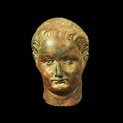 Aphrodite- Ancient Roman Bronze Portrait Head Of The Emperor Domitian