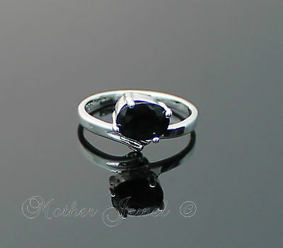 Black Cz Womens Girls Ladies Dress Sterling Silver Sp Cocktail Ring Size 5.5 K
