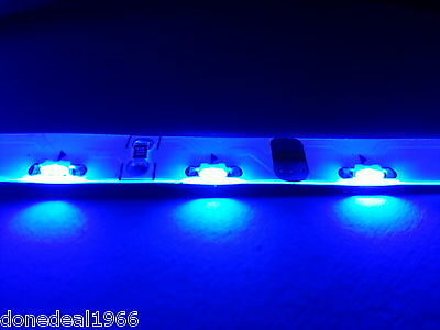 Blue Modding Pc Single 20Cm Strip 3 Pin Connector Mobo Backlight Case Led Strip