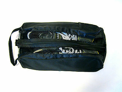 "Black Shoe Bag  ""new"" For Golf,football,bowls,athletics/rugby/cricket Etc"