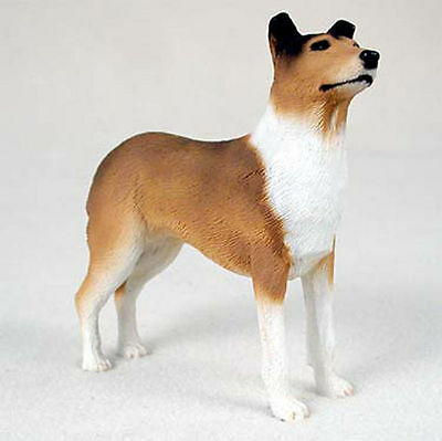 Collie Hand Painted Collectible Dog Figurine Statue Smooth