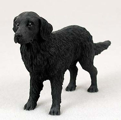 Flat Coated Retriever Figurine Hand Painted Collectible Statue