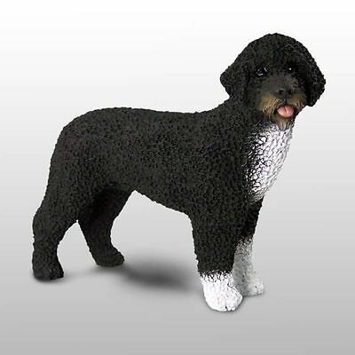 Portuguese Water Dog Presidential Bo Hand Painted Collectible Dog Figurine