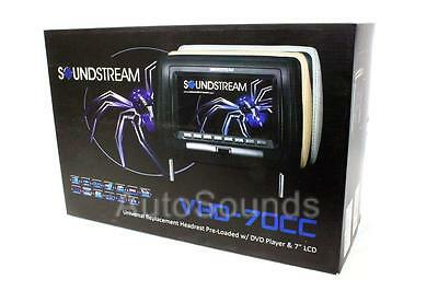 "Soundstream VHD-70CC Universal Replacement Headrest Monitor 7"" LCD DVD Player"