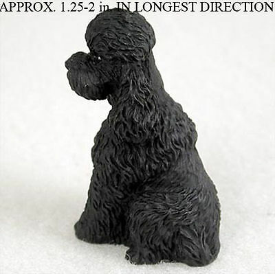 Poodle Mini Resin Hand Painted Dog Figurine Statue Hand Painted Black Sport