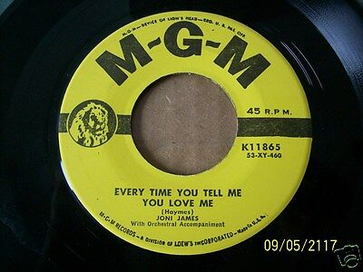 Joni James Every Time You Tell Me You Love Me/ When We Come Of Age 45 VG++ (17)
