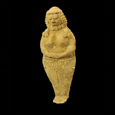 "Aphrodite- Ancient Syro-Hittite Terracotta ""idol"" Figure"