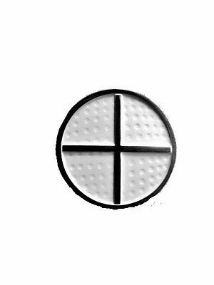 """MAGNETIC GOLF BALL MARKER AND HAT CLIP  """"NEW"""" White with silver cross."""