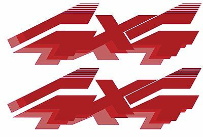 1992 - 1996 4x4 Decals for Ford F-Series F250 F350 Truck / Bronco - RED
