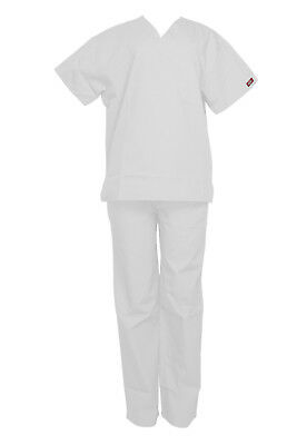 Dickies Unisex White Set- Medical Scrubs Everyday Scrubs Sizes Xs - Xl