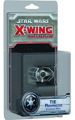 Star Wars-X-Wing-Game-TIE Advanced Expansion Set-Tabletop-New-Neu-very rare-OOP