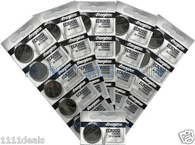 Lot of 26 Genuine Energizer ECR2032 Fresh Date 2032 Lithium 3v Batteries CR2032