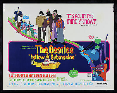 YELLOW SUBMARINE * CineMasterpieces RARE ORIGINAL MOVIE POSTER 1968 THE BEATLES