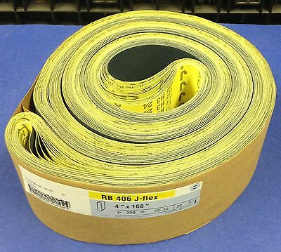 "Hermes RB-406 J-Flex Sanding Belts  ~ 4"" x 168"" ~ P220~  Lot of 22 Belts!!"