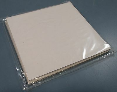 """Lot of 2 Polycarbonate 6"""" Square Sheets 0.125"""" Thick Clear New"""