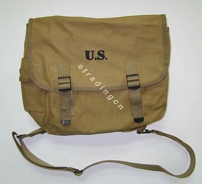 New WWII US Army M1936 M36 Musette Field Bag Backpack Haversack Travelling Bag
