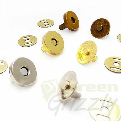 14 mm, Magnetic fasteners surface mounted for handbags, luggage, automotive, AS6