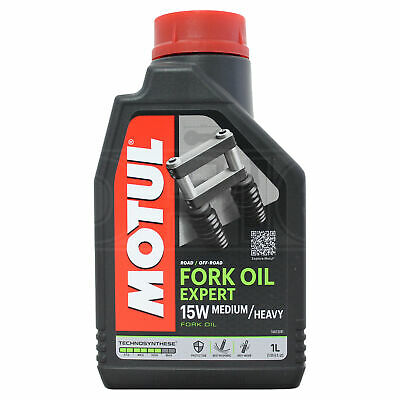 Motul Fork Oil Expert Medium Heavy 15W Motorcycle Suspension Fluid 1 Litre 1L