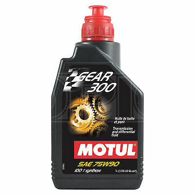 Motul Gear 300 75W-90 Racing gearbox and diff oil 100% ester Synthetic – 1 Litre