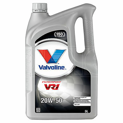 Valvoline VR1 Racing 20W-50 Highly Refined 20W50 Mineral Engine Oil 5 Litres 5L
