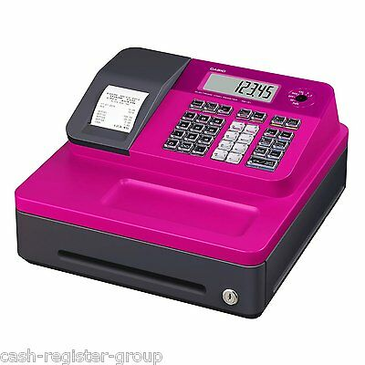 NEW CASIO SE-G1 SD-B PINK ELECTRONIC CASH REGISTER SHOP TILL THERMAL & Support