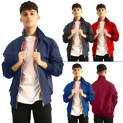 New Mens Vintage Classic Retro Harrington Bomber Trendy Jacket Size S M L XL XXL