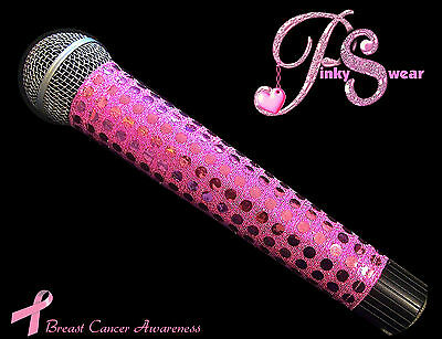 SPARKLE MICROPHONE COVER (PINKY SWEAR)  BLING MICROPHONE COVER FOR CORDLESS MIC