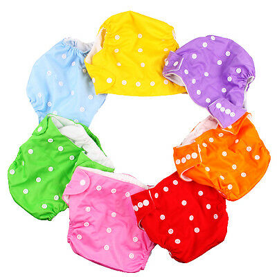 Newborn Baby Infant Cloth Diaper Cover Adjustable Reusable Washable Nappy