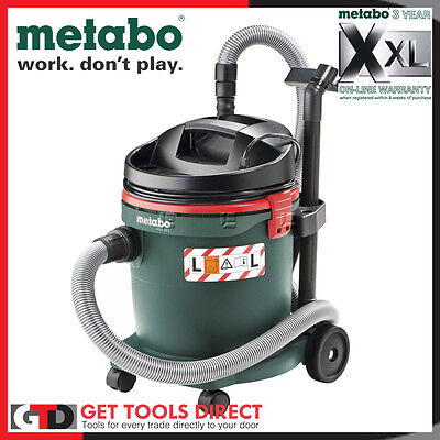 New Metabo 1200W Wet & Dry Multi Purpose Vacuum Dust Extractor ASA32L