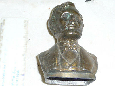 Abraham Lincoln bust ,heavy- brass ,very nicely detailed 4 INCHES HIGH