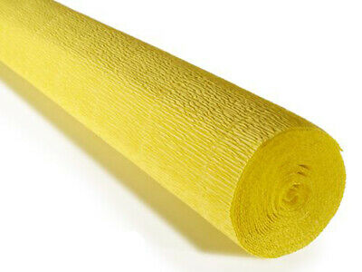 Yellow Crepe paper roll 50cm x 2.5m Top quality Italian paper craft